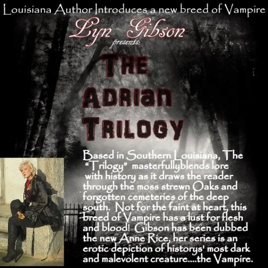 Visit DonnaInk Publications, L.L.C. for your edition of The Adrian Trilogy (Vol. I & II are in print)